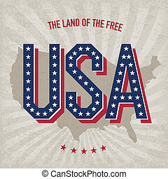 usa, abstract, poster, ontwerp, vector, eps10
