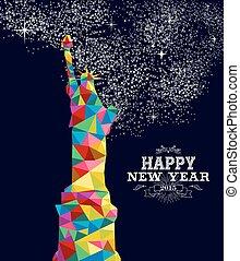 usa, affiche, conception, année, 2015, nouveau
