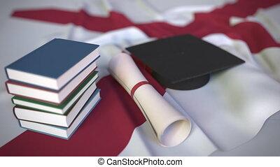 usa, alabama., buecher, bildung, diplom, höher, verwandt,...