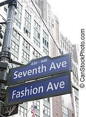 usa, aleja, miasto, york, 7, nowy