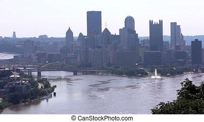 America Pittsburgh skyline shot three