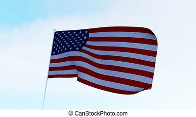 USA American Flag. Alpha matte