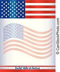 USA American Flag Border Background