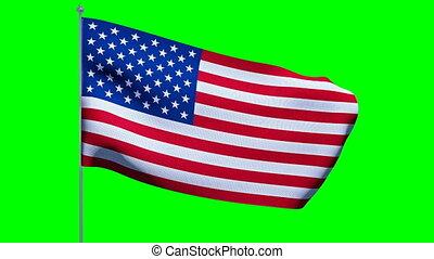 USA American Flag. Cromakey