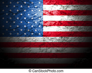 usa american flag grunge style 3