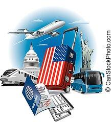 USA american landmarks