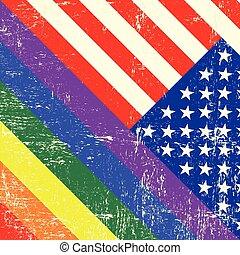 USA and gay grunge Flag