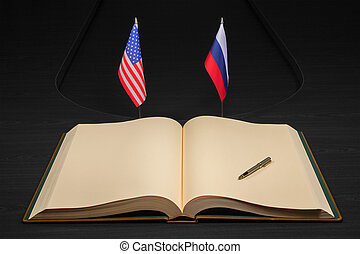 USA and Russia relationship concept