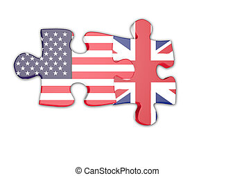 USA and UK jigsaw