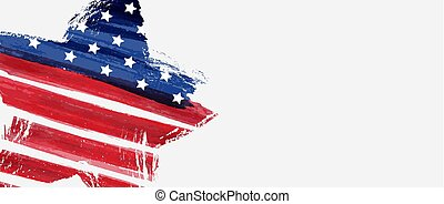 USA background with abstract star flag