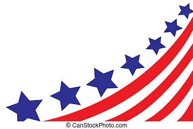 usa bandera, w, styl, wektor
