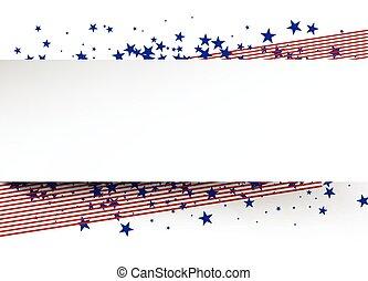 USA banner.