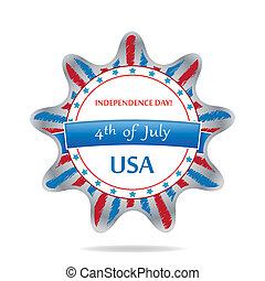 USA banner design set, vector illustration.
