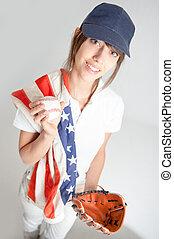 USA baseball fan