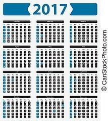 USA calendar 2017 - with official holidays
