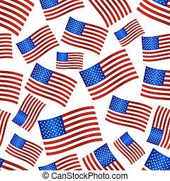 usa, celostátní vlaječka, oslava, seamless, model, eps10