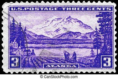USA - CIRCA 1937 Alaska - USA - CIRCA 1937: A Stamp printed...