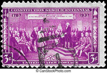 USA - CIRCA 1937 Constitution Sesquicentennial