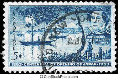 USA - CIRCA 1953 Opening of Japan - USA - CIRCA 1953: A...