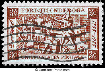 USA - CIRCA 1955 Fort Ticonderoga - USA - CIRCA 1955: A...