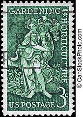 USA - CIRCA 1958 Bountiful Earth - USA - CIRCA 1958: A Stamp...