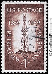 USA - CIRCA 1959 Oil Derrick