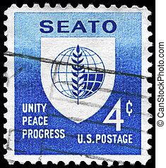 USA - CIRCA 1960 SEATO - USA - CIRCA 1960: A Stamp printed ...