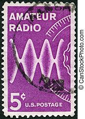 USA - CIRCA 1964: shows Radio Waves and Dial, dedicated to the 5