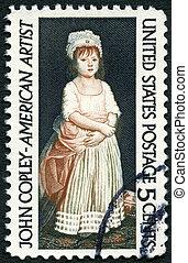USA - CIRCA 1965: A stamp printed in USA shows Elizabeth ...