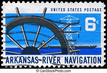 USA - CIRCA 1968 Ship Wheel