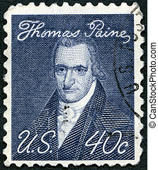 USA - CIRCA 1969: A stamp printed in USA shows portrait of...