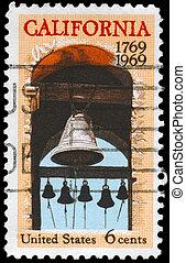 USA - CIRCA 1969 Belfry - USA - CIRCA 1969: A Stamp printed...