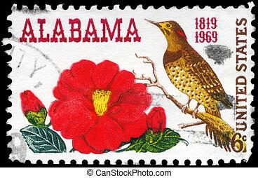 USA - CIRCA 1969 Camellia - USA - CIRCA 1969: A Stamp...