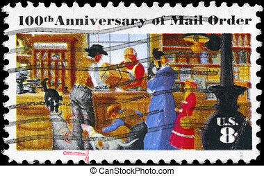 USA - CIRCA 1972 Mail Order - USA - CIRCA 1972: A Stamp...