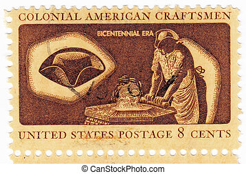 usa, -, circa, 1972:, postzegel, bedrukt, in, usa,...