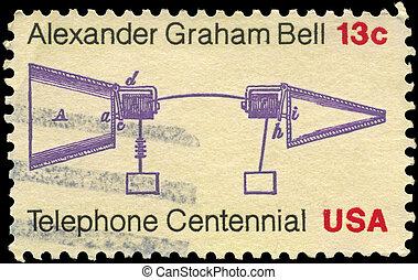 USA - CIRCA 1976 Telephone Centenary