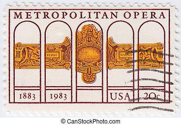 USA - CIRCA 1983 : stamp printed in USA shows dedicated to...