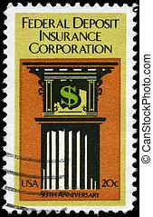 USA - CIRCA 1984 Federal Deposit - USA - CIRCA 1984: A Stamp...