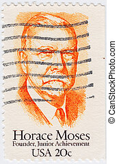 USA - CIRCA 1984: stamp printed in USA shows Horace Moses, circa 1984