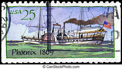 USA - CIRCA 1989 Phoenix - USA - CIRCA 1989: A Stamp printed...