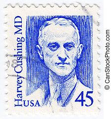 USA - CIRCA 1989: stamp printed in USA shows of Harvey...
