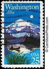 USA - CIRCA 1989 Washington Statehood