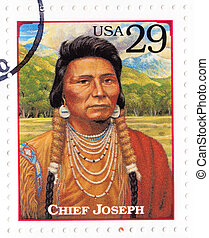 USA - CIRCA 1994 : Stamp printed in the USA shows Chief ...