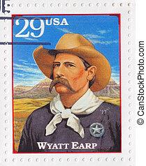 USA - CIRCA 1994 : Stamp printed in the USA shows Wyatt ...