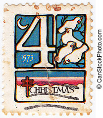 USA - CIRCA 1994: stamp printed in USA showschristmas, circa...