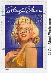 UsA - CIRCA 1995 : stamp printed in USA show popular 1960s...