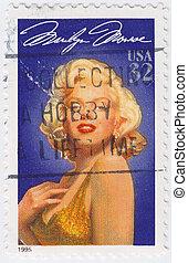 UsA - CIRCA 1995 : stamp printed in USA show popular 1960s ...