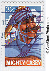 USA - CIRCA 1996 : stamp printed in USA show Casey at the ...