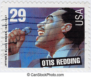 USA - CIRCA 1997 : stamp printed in USA shows Otis Redding ...