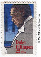 USA - CIRCA 1999 : stamp printed in USA shows Duke Ellington American composer, pianist, and big band leader, circa 1999